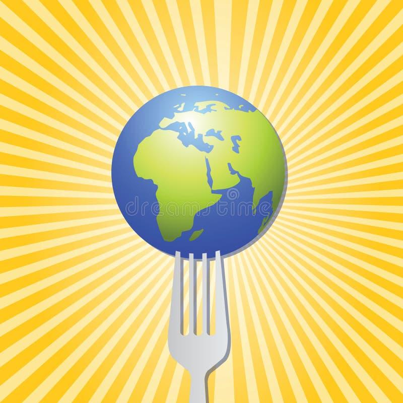 Voedsel van het wereldkunstwerk stock illustratie
