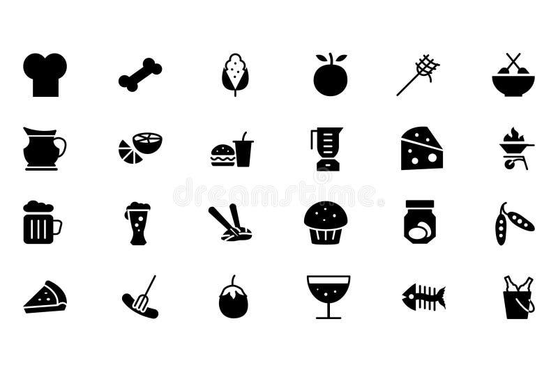 Voedsel Vectorpictogrammen 5 vector illustratie