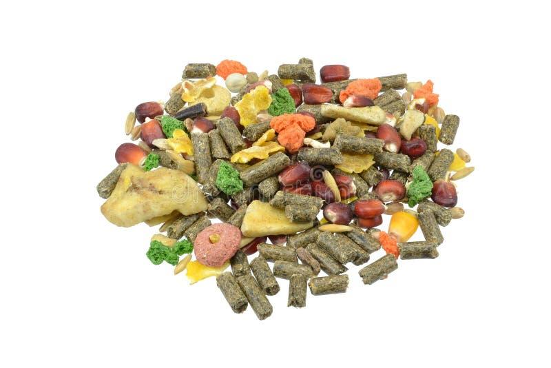 Voedsel voor huisdieren voor hamsters & proefkonijnen stock foto