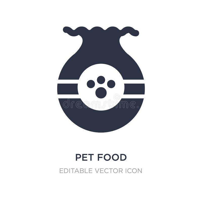 voedsel voor huisdierenpictogram op witte achtergrond Eenvoudige elementenillustratie van Dierenconcept vector illustratie