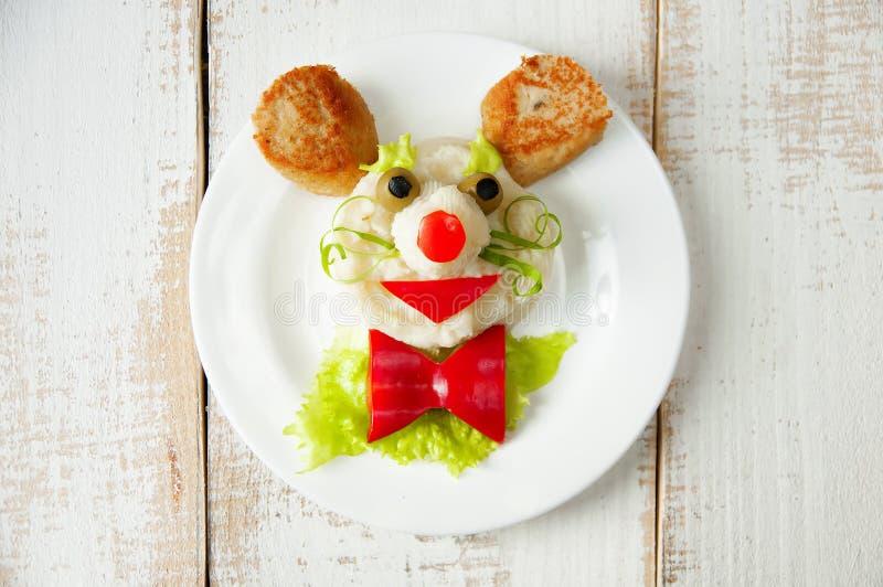 Voedsel voor kind stock fotografie