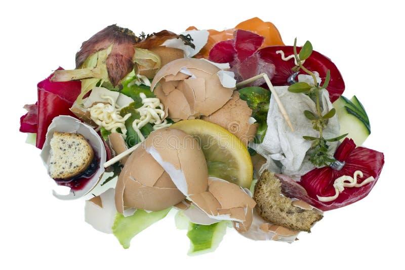 Voedselafval geïsoleerd concept stock afbeeldingen