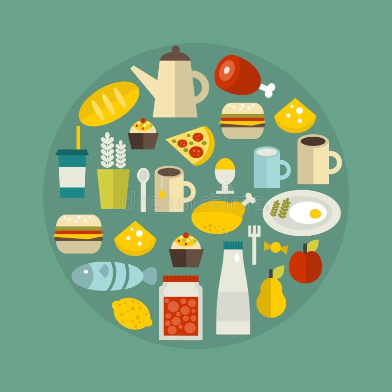 Voedselcirkel. vector illustratie