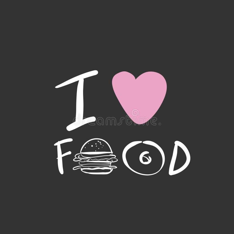 Voedselcitaten Hand het van letters voorzien voor uw ontwerp stock illustratie