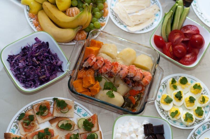 voedselcollage van Italiaanse recepten stock foto's
