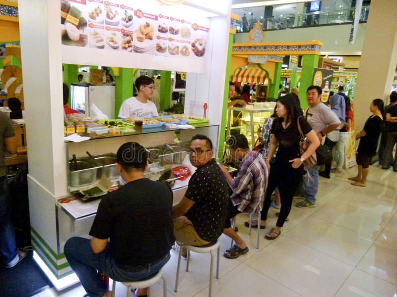 Voedselhof stock foto's