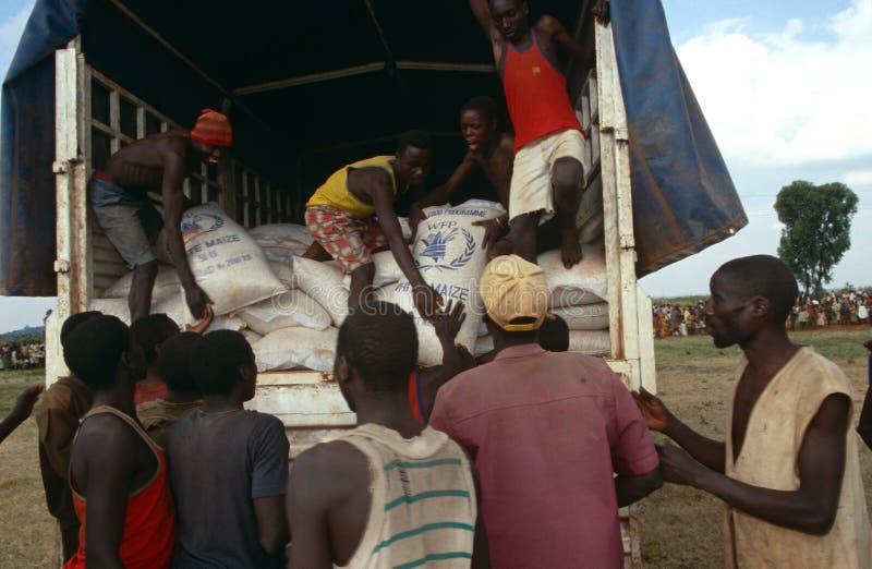 Voedselhulp in Burundi. royalty-vrije stock foto