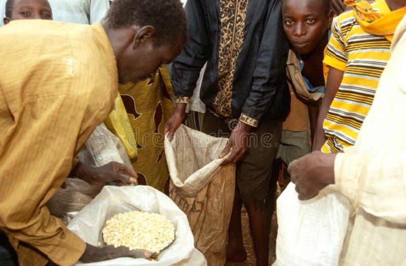 Voedselhulp in Burundi. royalty-vrije stock afbeeldingen