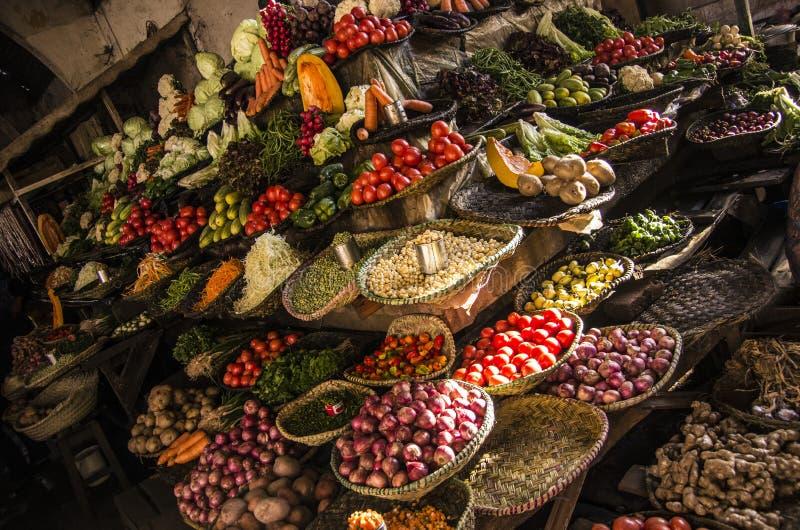 Voedselmarkt, Madagascar stock fotografie