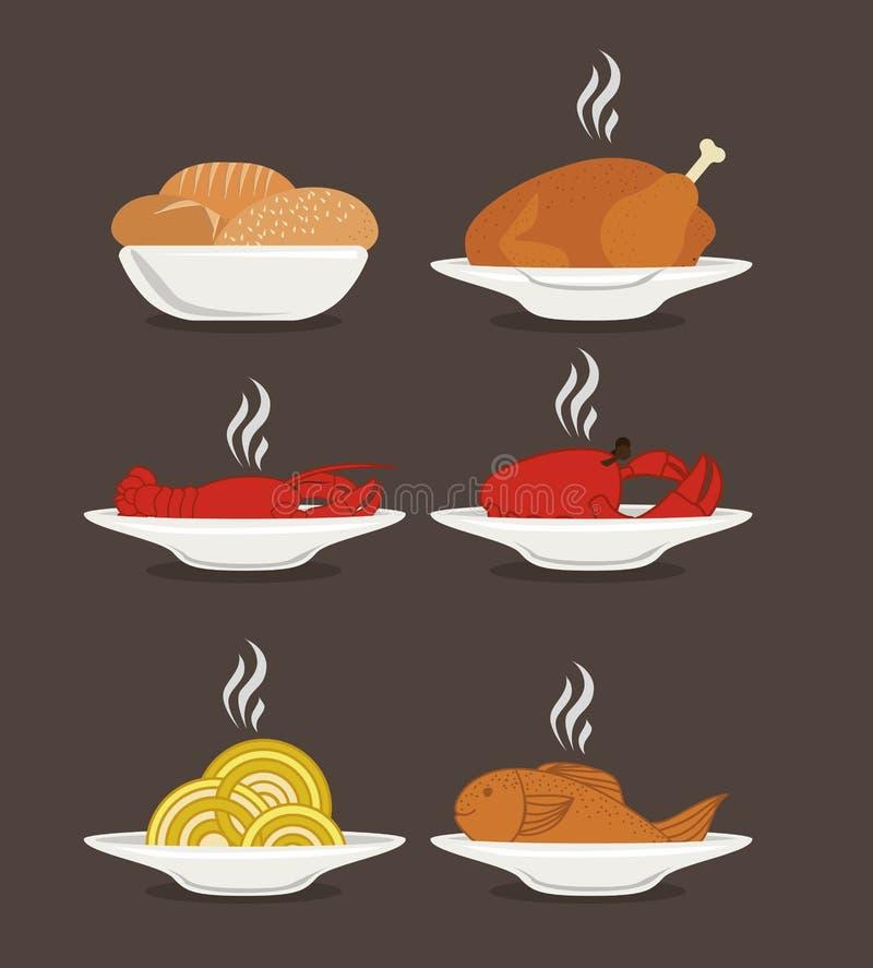Voedselontwerp stock illustratie