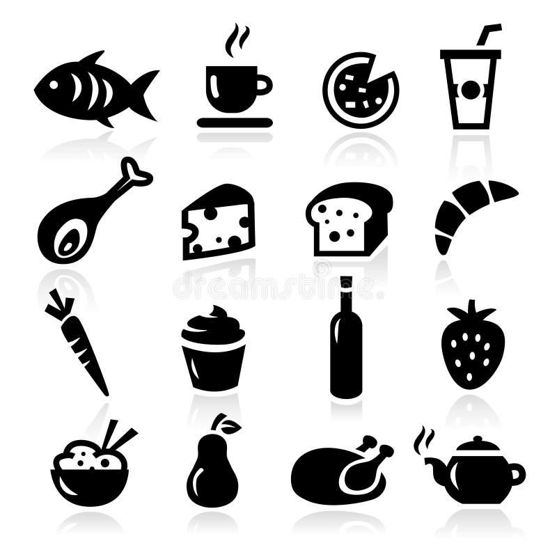 Voedselpictogrammen royalty-vrije illustratie