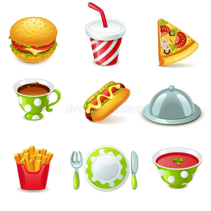 Voedselpictogrammen vector illustratie