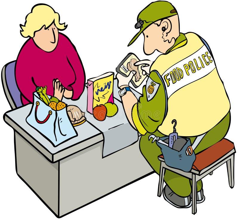 Voedselpolitie royalty-vrije illustratie