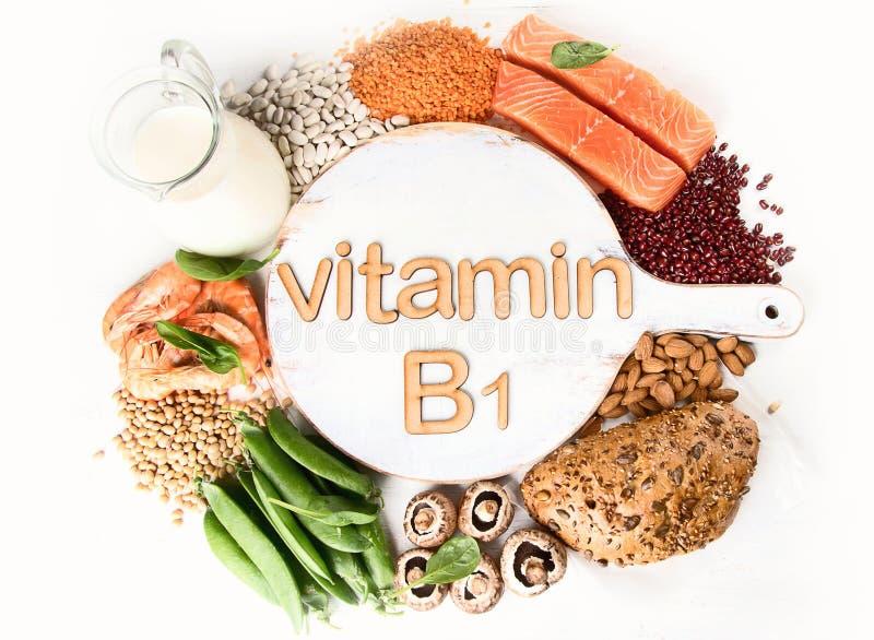 Voedselrijken in vitamine B1 royalty-vrije stock foto's
