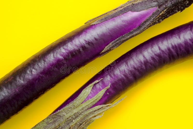 Voedselsamenvatting met aubergine royalty-vrije stock fotografie