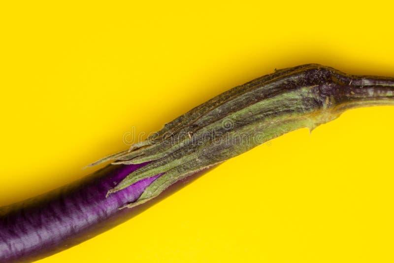 Voedselsamenvatting met aubergine stock foto
