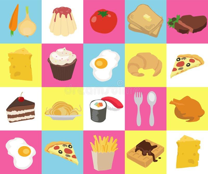Voedseltextuur vector illustratie