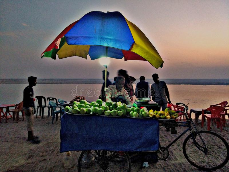 Voedselverkoper Padma stock afbeelding