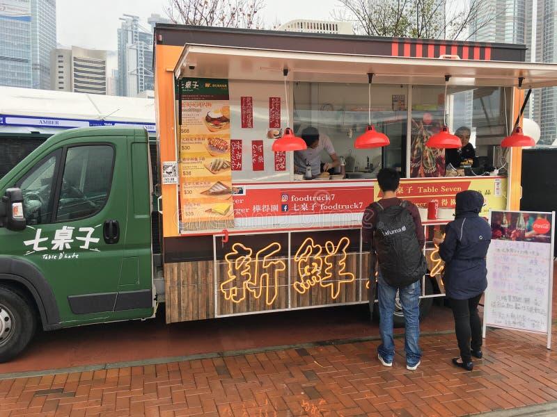 Voedselvrachtwagen, Hong Kong royalty-vrije stock afbeeldingen
