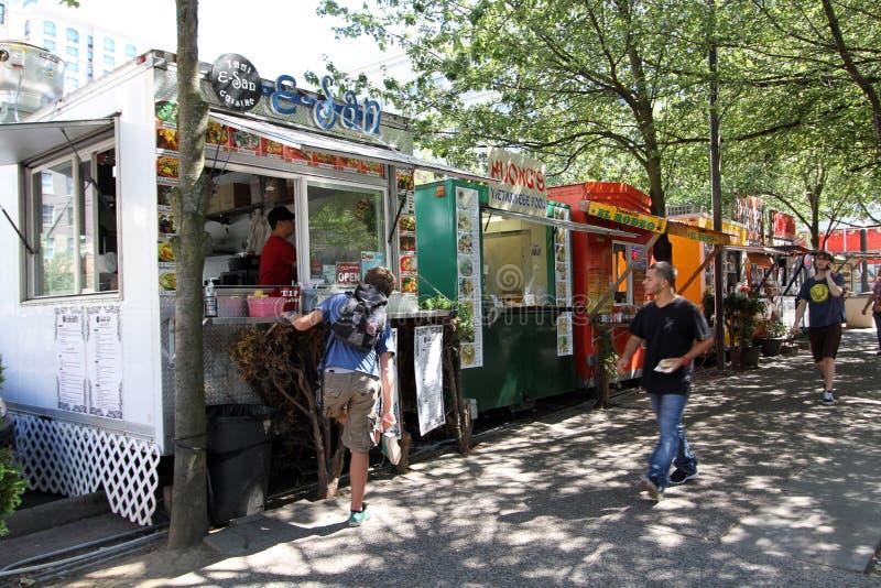 Voedselvrachtwagens Portland Oregon royalty-vrije stock foto's