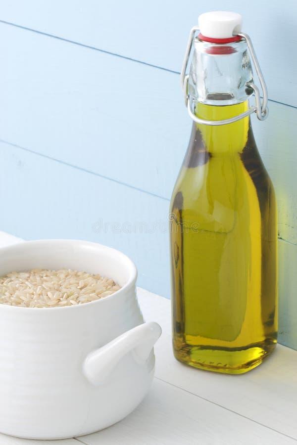 Voedzame ongepelde rijst royalty-vrije stock foto
