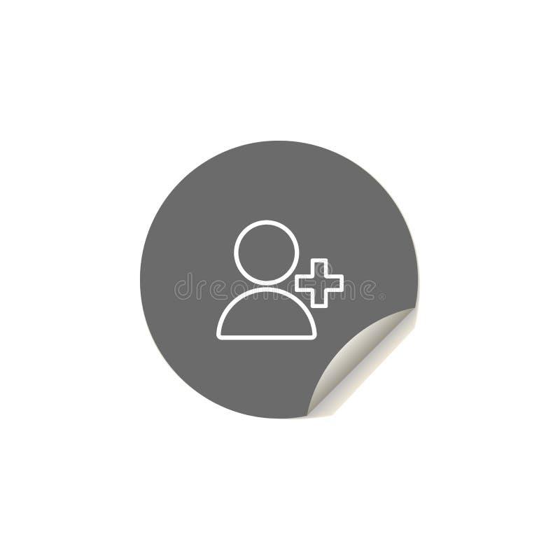voeg het pictogram van het contactpictogram toe Element van Webpictogrammen voor mobiel concept en Web apps De stickerstijl voegt royalty-vrije illustratie
