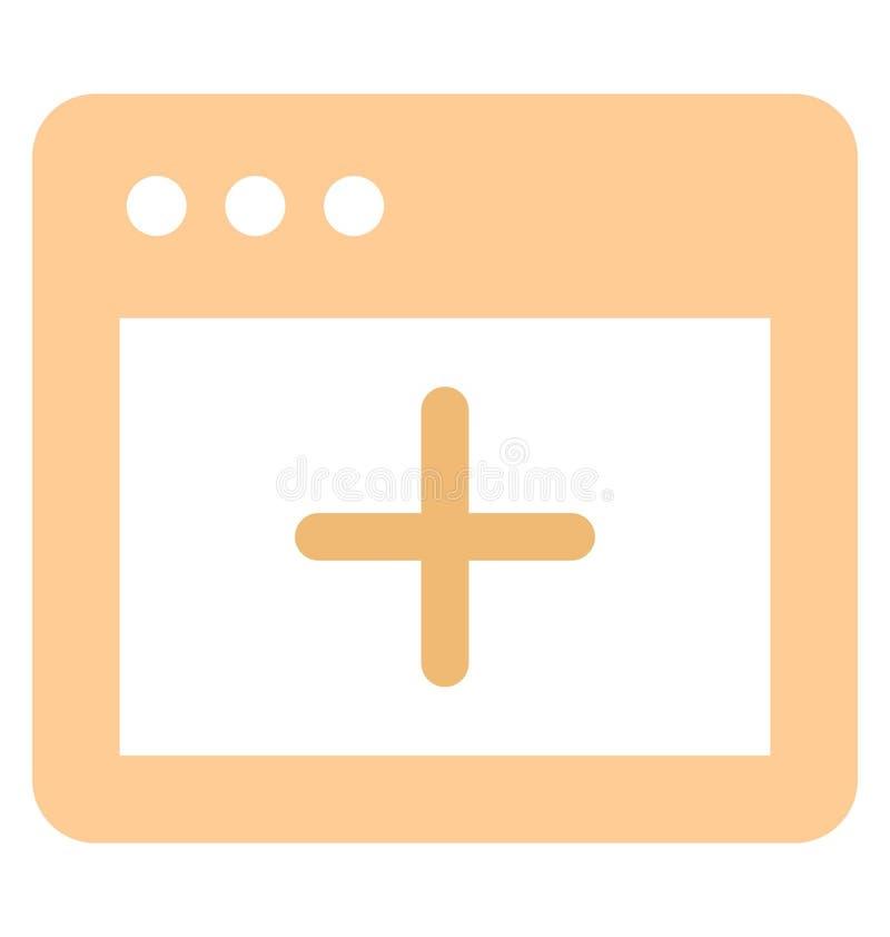Voeg met betrekking tot Webbrowservensters en volledig editable gegevensvector toe vector illustratie
