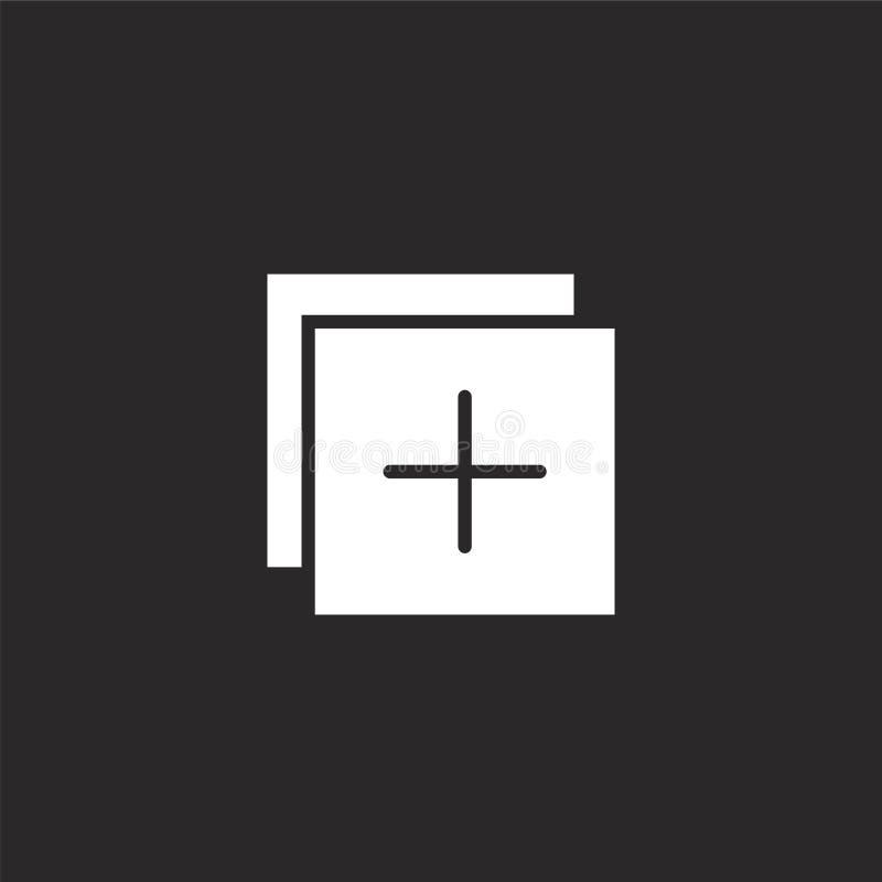 Voeg Pictogram toe Gevuld voeg pictogram voor websiteontwerp toe en mobiel, app ontwikkeling voeg pictogram van gevulde essentiël vector illustratie