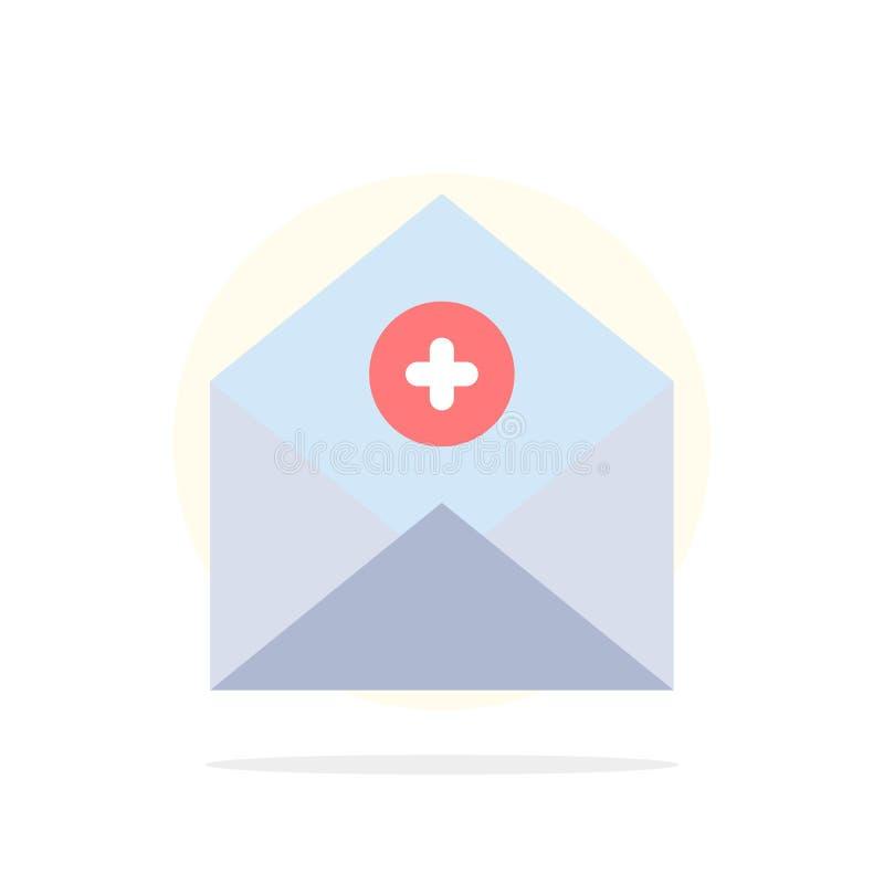 Voeg, toe:voegen-Post, Mededeling, E-mail, van de Achtergrond post Abstract Cirkel Vlak kleurenpictogram toe stock illustratie
