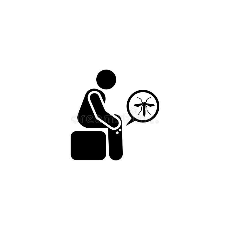 Voel, zika, arts, knokkelkoortspictogram Element van aedes mug en knokkelkoortspictogram Grafisch het ontwerppictogram van de pre vector illustratie