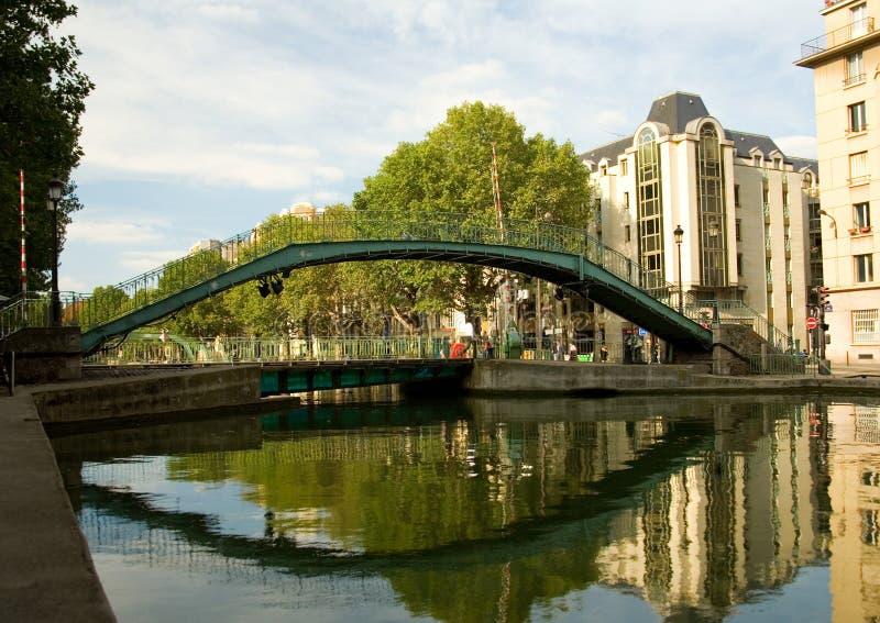 Voet brug over kanaal heilige-Martin in Parijs royalty-vrije stock foto