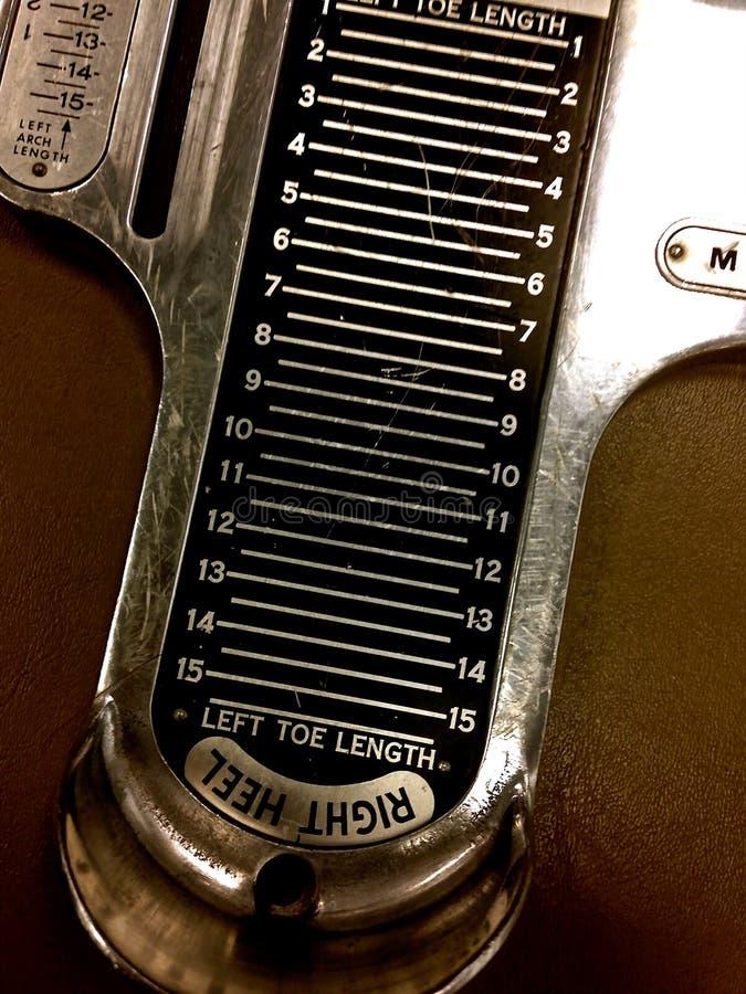 Voet Meetinstrument royalty-vrije stock foto's