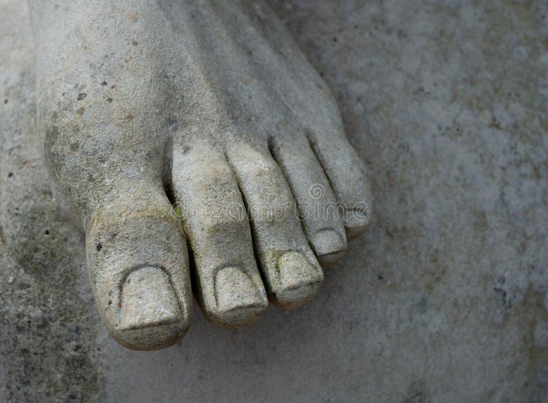 Voet van standbeeld stock afbeeldingen