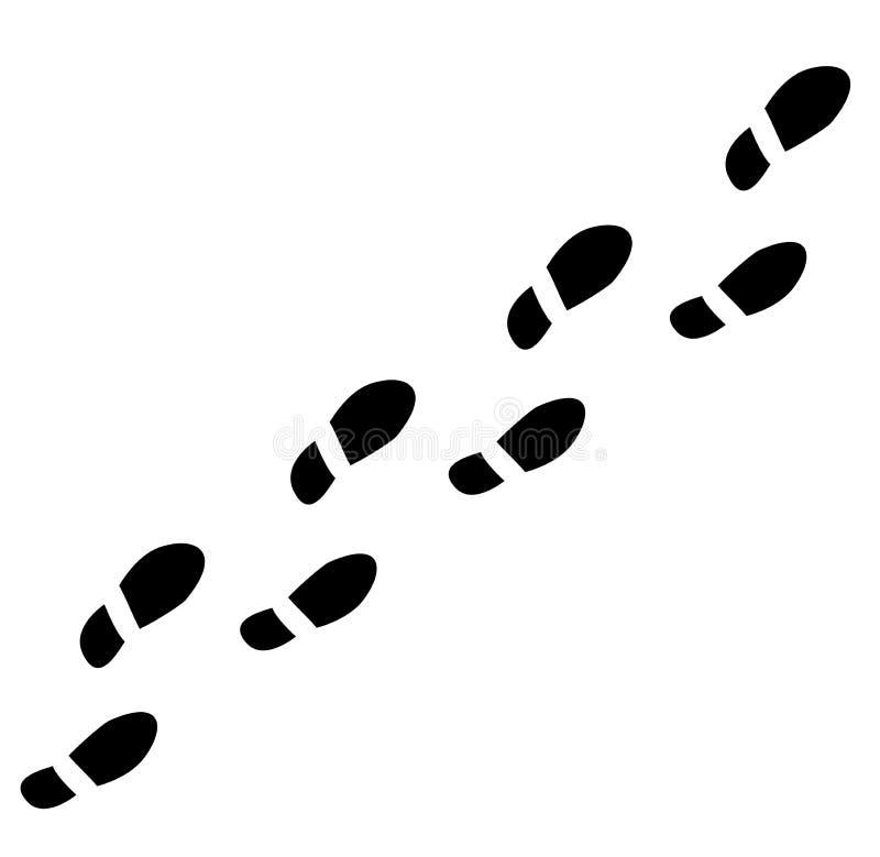 Voetafdrukken 1 vector illustratie