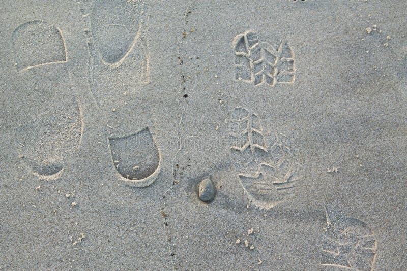 voetafdrukken royalty-vrije stock foto