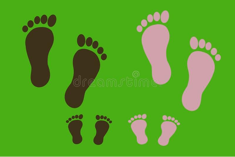 voetafdrukken vector illustratie