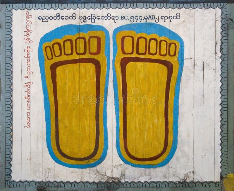 Voetafdrukken van Buddha3 stock foto