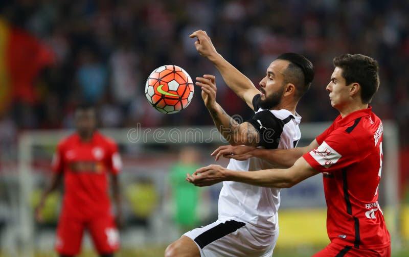 """Voetbal †""""DINAMO BOEKAREST versus ASTRA GIURGIU royalty-vrije stock afbeeldingen"""