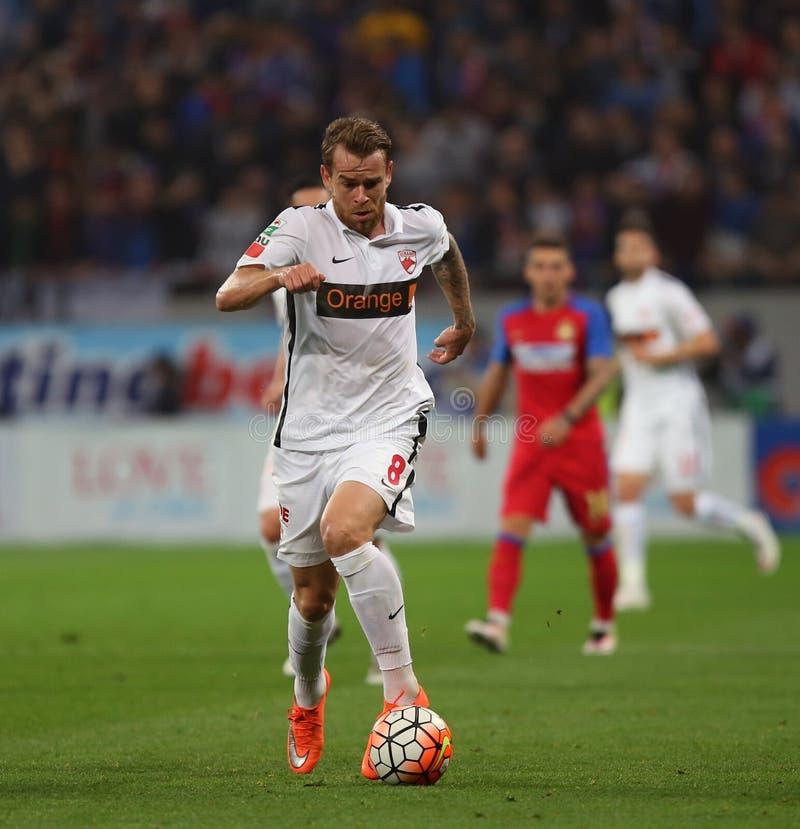 "Voetbal †""STEAUA BOEKAREST versus Dinamo Boekarest stock foto's"