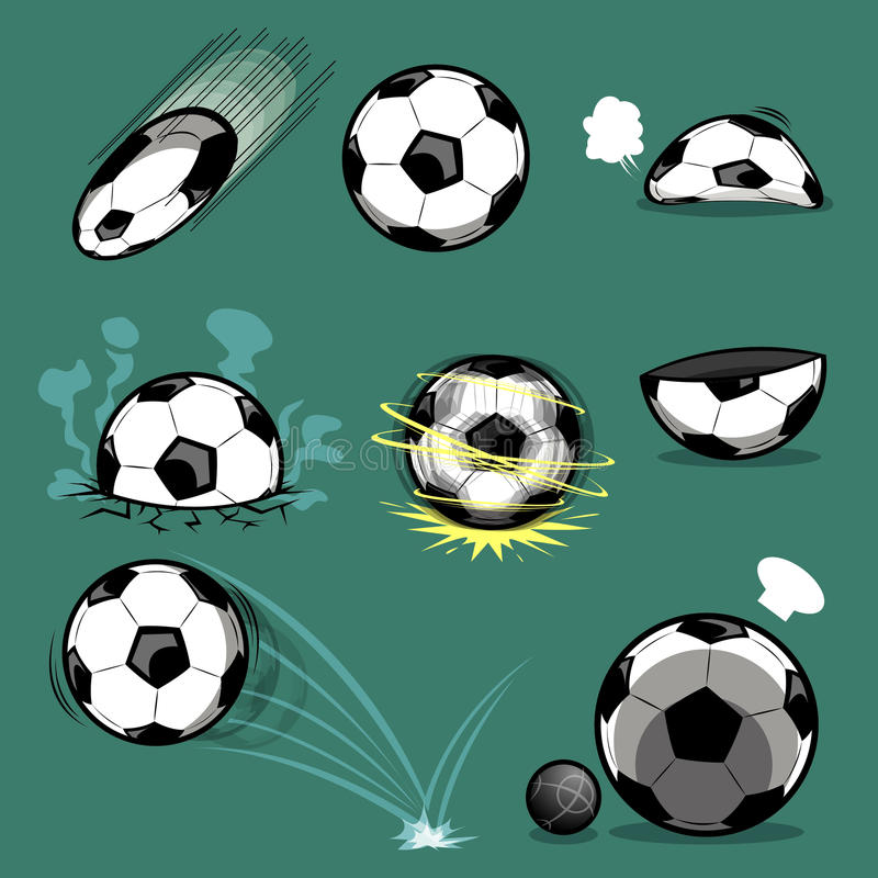 Voetbal stock illustratie