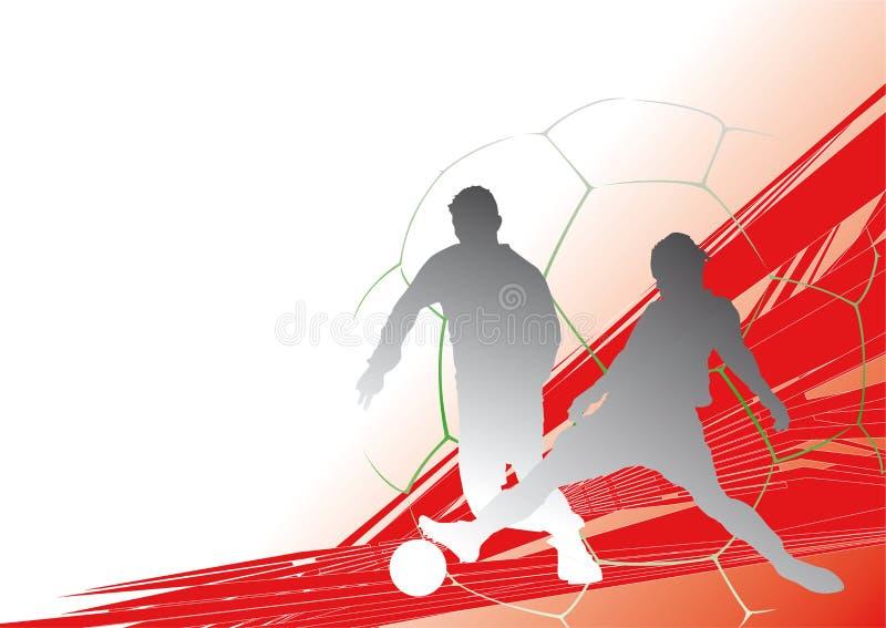 Voetbal-Background3 stock illustratie