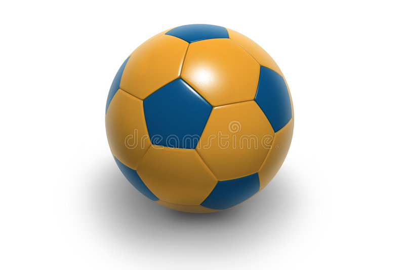 Voetbal ball5 royalty-vrije illustratie