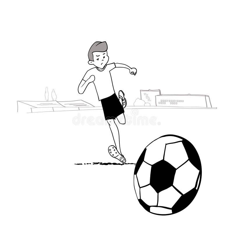 Voetbal stock illustratie