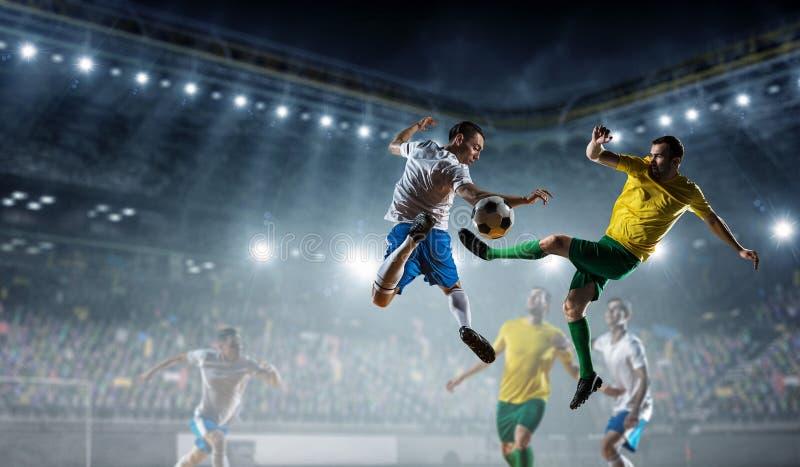 Voetbal beste ogenblikken Gemengde media stock fotografie