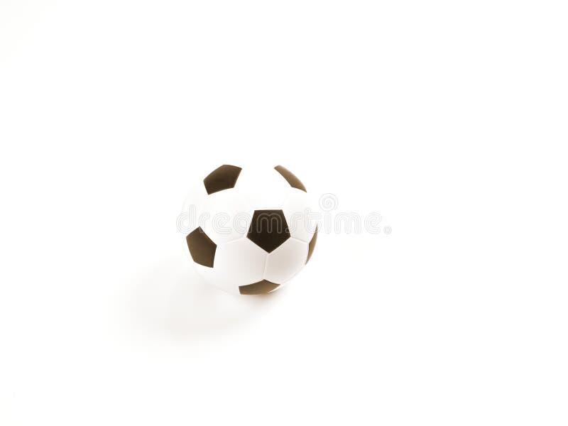 Voetbal/de bal van het Voetbal op wit stock illustratie