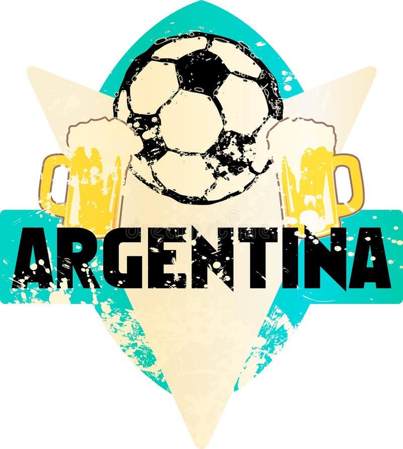 Voetbal/Voetbal fictief grungy embleem Argentinië vector illustratie