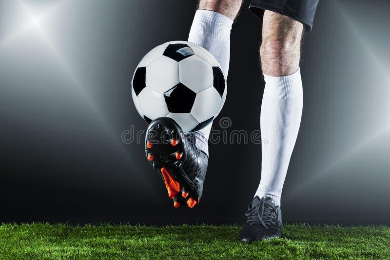 Voetbal Fotballgelijke Kampioenschapsconcept met voetbalbal royalty-vrije stock foto