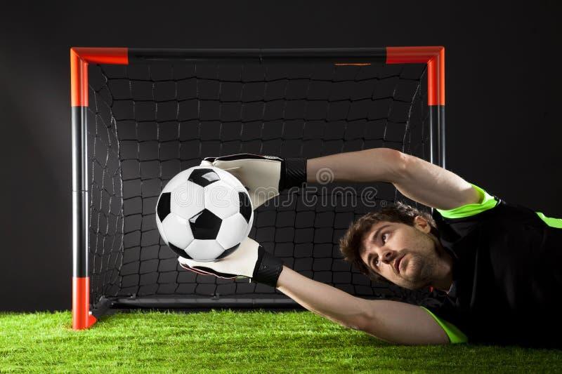 Voetbal Fotballgelijke Kampioenschapsconcept met voetbalbal stock afbeeldingen