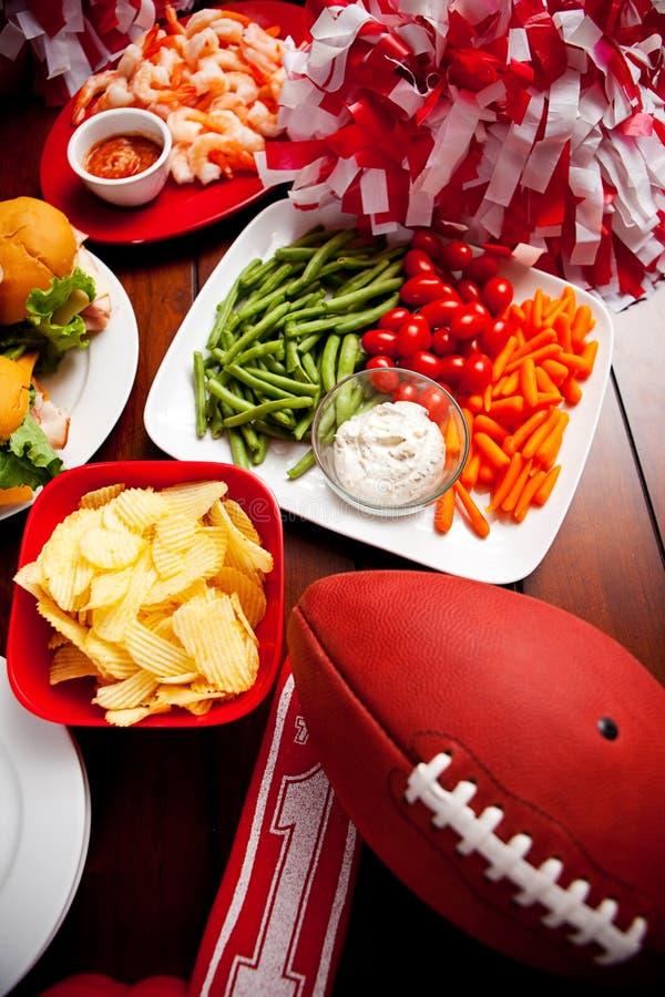 Voetbal: Het Voedsel van de voetbalpartij royalty-vrije stock afbeeldingen