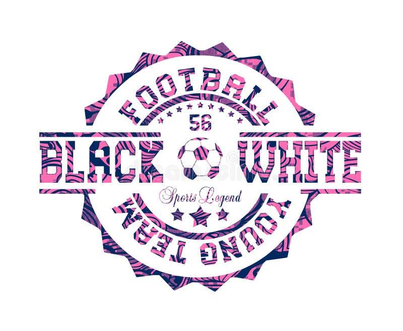 ?voetbal jong team ?, ?zwart wit ?, ?sportenlegende ? royalty-vrije illustratie